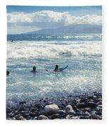 Olowalu Maui Hawaii Fleece Blanket