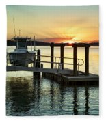 On The Waterfront Fleece Blanket