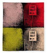 One Way Street Fleece Blanket