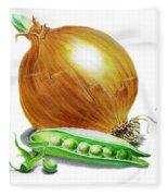 Onion And Peas Fleece Blanket