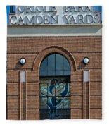 Oriole Park At Camden Yards Fleece Blanket