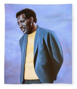 Otis Redding Painting Fleece Blanket