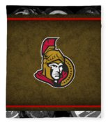 Ottawa Senators Fleece Blanket