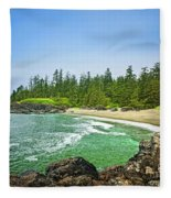 Pacific Ocean Coast On Vancouver Island Fleece Blanket