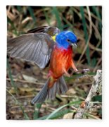 Painted Bunting Passerina Ciris Fleece Blanket