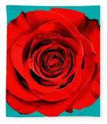 Painting Of Single Rose Fleece Blanket