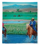 Paiute Cattlemen Fleece Blanket