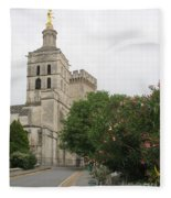 Palace Of The Pope - Avignon Fleece Blanket