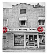 Papa's Poboy Shop Fleece Blanket
