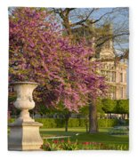 Paris Springtime Fleece Blanket