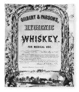 Patent Medicine Poster Fleece Blanket
