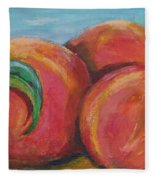 Peaches Fleece Blanket
