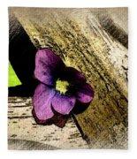 Peeking Violet Fleece Blanket