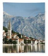 Perast In Kotor Bay Montenegro Fleece Blanket