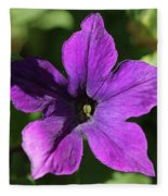 Petunia Hybrid From The Sparklers Mix Fleece Blanket