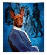 Pharaoh Hound Art Canvas Print Fleece Blanket