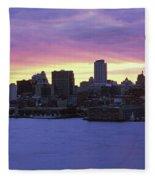 Philadelphia Skyline At Dusk Fleece Blanket