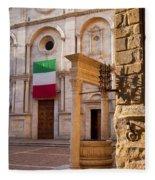 Pienza Tuscany Fleece Blanket