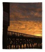 Pier Myrtle Beach Sc Fleece Blanket