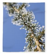 Pine Tree Branch Fleece Blanket