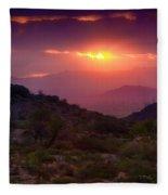 Pink Desert Skies  Fleece Blanket