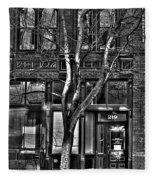 Pioneer Square No.1 Fleece Blanket