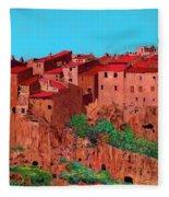 Pitigliano Village Fleece Blanket