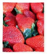 Plant City Strawberries Fleece Blanket
