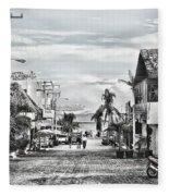 Playa Del Carmen Mexico Fleece Blanket