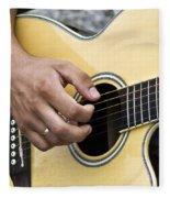 Playing Guitar Fleece Blanket