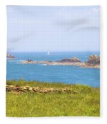 Pointe Du Grouin - Brittany Fleece Blanket