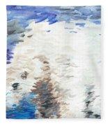 Polar Bear Reflection Fleece Blanket