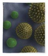 Pollen Grains Fleece Blanket