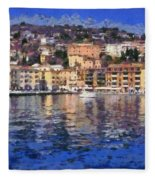 Porto Stefano In Italy Fleece Blanket