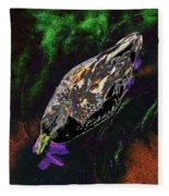 Psychedelic Mallard Duck 1 Fleece Blanket