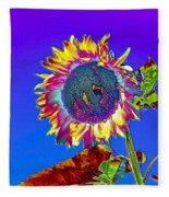 Psychedelic Sunflower Fleece Blanket