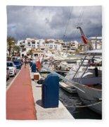 Puerto Banus Marina Fleece Blanket