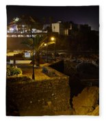 Puerto De La Cruz By Night Fleece Blanket