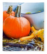 Pumpkins Decorations Fleece Blanket