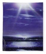 Purple Aura II Fleece Blanket