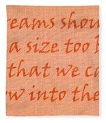 Quote Fleece Blanket