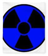 Radiation Warning Sign Fleece Blanket