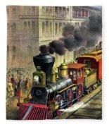Railroad, 1874 Fleece Blanket
