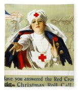 Red Cross Poster, C1918 Fleece Blanket