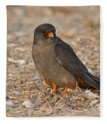 Red Footed Falcon Falco Vespertinus Fleece Blanket