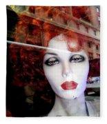 Red Reflections Fleece Blanket