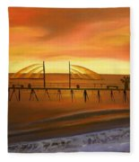 Redondo Beach Pier At Sunset Fleece Blanket