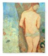 Redon's Saint Sebastian Fleece Blanket