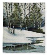 Reflections Of Winter Fleece Blanket