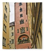 Regensburg Germany Fleece Blanket